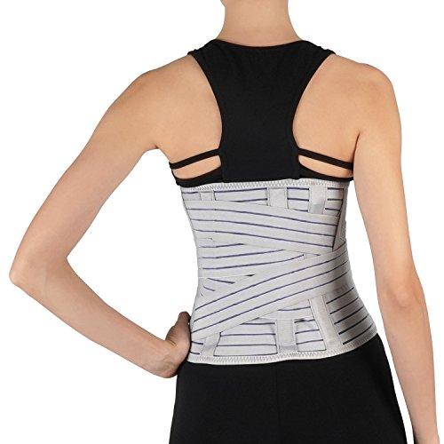 Soles Support lombaire Ceinture lombaire - Ajustable, Corset respirant -  Unisexe - Aide à réduire les douleurs du dos, maintien de la posture  (Moyen)  ... e298704c490