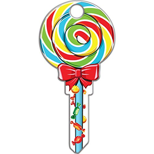 Lucky Line Key Shapes, Lollipop, House Key Blank, KW1/11, 1 Key -