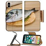 Luxlady Premium Apple iPhone X Flip Pu Leather Wallet Case IMAGE ID: 34255762 Raw dorado fish ready for cooking