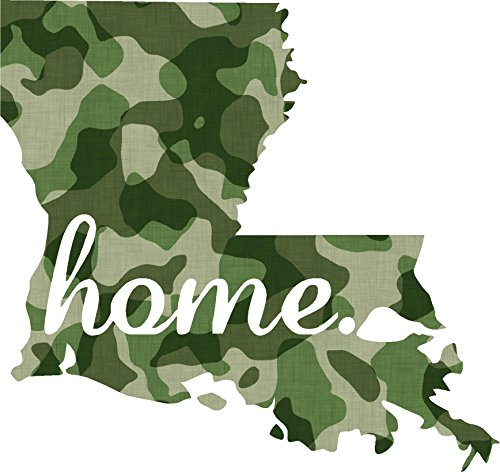 Pow Mia Window Decals (Louisiana #2 Home USA military camo print 3.9x4.2 inches america united states marine us coast guard navy seals air force pow mia color sticker state decal vinyl - Made and Shipped in USA)
