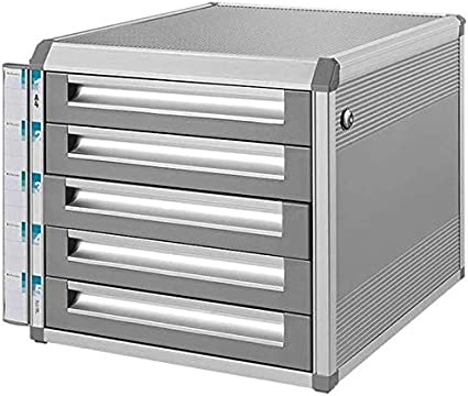 Size : 4-Layers File Cabinets Aluminum Alloy Storage Drawers Desk Unit Organizer Convenient File Classification Strong Collision Resistance Aluminum Alloy,MDF Home Office Furniture