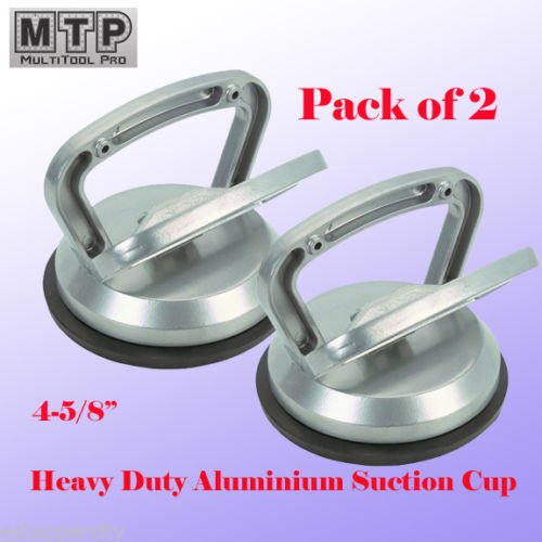 """MTP Pack of 2 Heavy Duty 4-5/8"""" Aluminium Suction Cup Automotive Body Shop Repair Dent Puller Lifer Glass Remover Granite Countertop"""