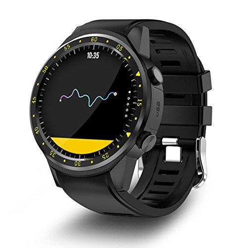 GPS Smart Sport Watch with Dual Camera Altimeter Heart Rate F1 1.3inch Touch Screen MT2503 Chip Smart Watch For IOS Android Samsung Mobile Phone