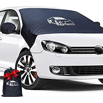 Car Windshield Cover for Ice and Snow Wiper Protector Truck Universal Cars Sturdy-Self Storage Pouch-Keep Your Vehicle Exterior Ice Free /& Clean Vans Waterproof Car Windshield Forst Cover for SUV