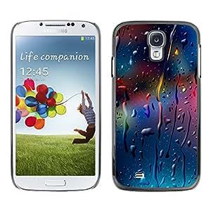 ROKK CASES / Samsung Galaxy S4 I9500 / COLOR DROPS / Delgado Negro Plástico caso cubierta Shell Armor Funda Case Cover