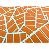 80 Labels , 50x20mm Rectangle , Orange , Colour Code stickers , Self-Adhesive Sticky Coloured Labels