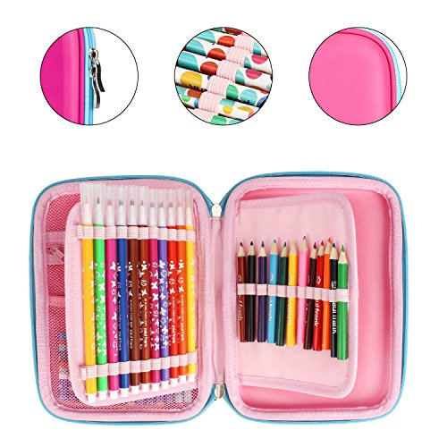 ELOKI Hard Pencil Case, 48 Slots Zipper Pen Case Stationery Pouch Bag Holder for Colored Pencils by ELOKI (Image #6)