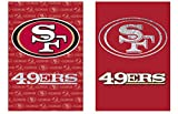 Team Sports America NFL San Francisco 49ers Suede Two Sided Glitter Embellished Garden Flag, Medium, Multicolored Review