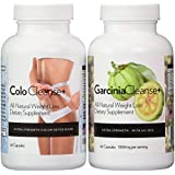 The Ultimate Weight Loss Solution- Pure Garcinia Cambogia Extract 1000 mg per day + All Natural Herbal Colon Cleanse. These are Diet Pills That Work Fast! Lose weight, flatten stomach, and trim waist line. (Two Bottle Pack)