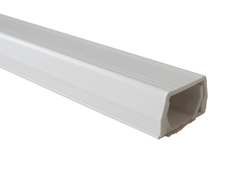 netproshop Kabelkanal 8x9mm Innenmaß PVC (Trapezförmig, Selbstklebend) (1 Meter), Farbe:braun