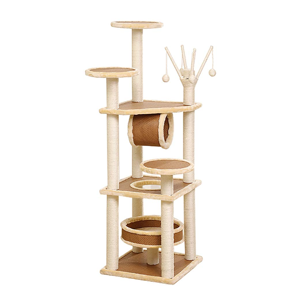 A Cat Tree with Scratch Post, Height 143 158cm (color   A)