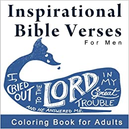 Amazoncom Inspirational Bible Verses For Men Coloring Book For