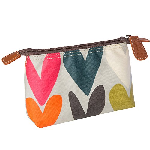 Caroline Gardner Hearts Cosmetic Bag by Caroline Gardner