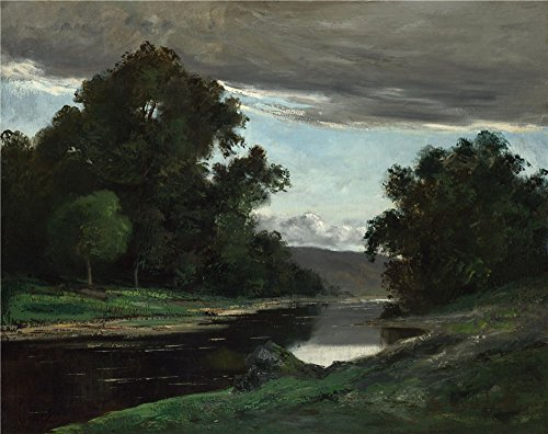 'Imitator Of Gustave Courbet Landscape ' Oil Painting, 16 X 20 Inch / 41 X 51 Cm ,printed On Perfect Effect Canvas ,this High Resolution Art Decorative Prints On Canvas Is Perfectly Suitalbe For Nursery Gallery Art And Home Gallery Art And Gifts
