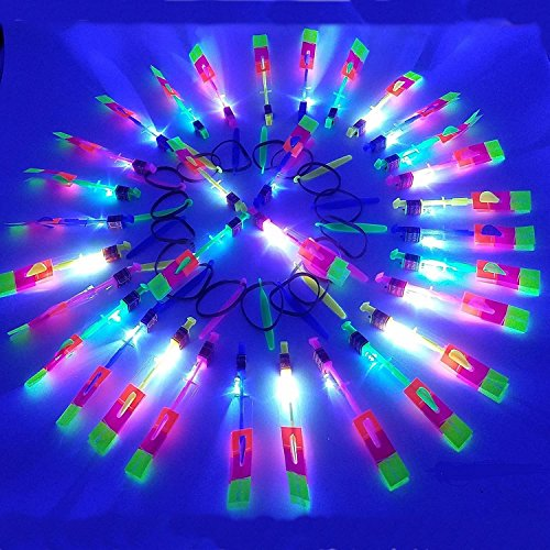 Amazing Arrow Rocket Copters Led Light Helicopter Flying Toy 32 (Light Helicopter)