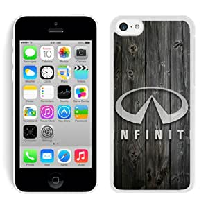Hot Sale 5C Case,Infiniti Logo 1 White iPhone 5C Screen Phone Case Custom and Fashion Design