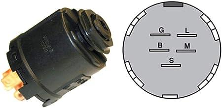 AYP 178744 Ignition Switch w// Key On Off Start 5 Prong Husqvarna 532178744