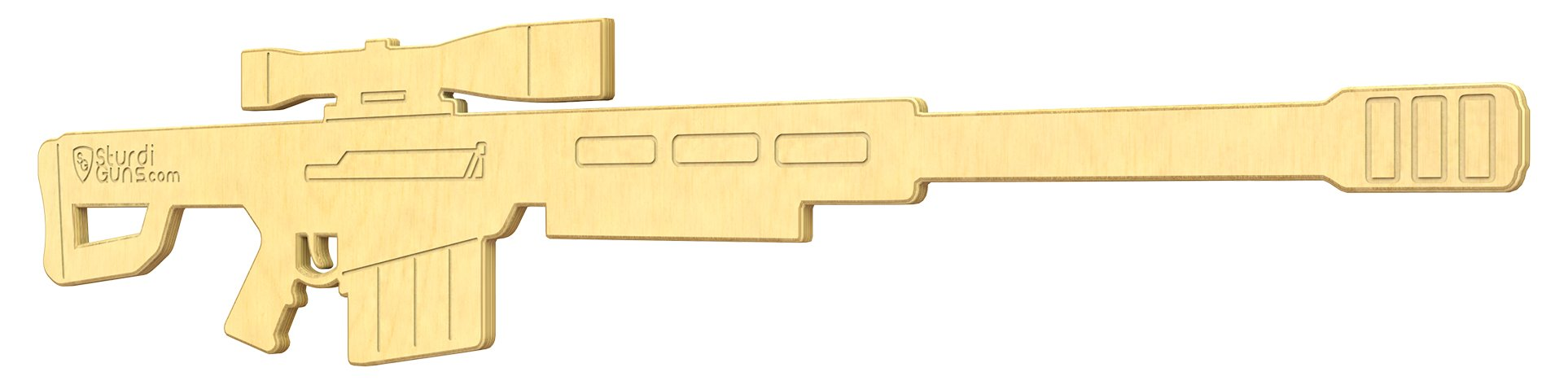 SturdiGuns Kids Sniper 50-Cal Wooden Toy Gun with, Made in America, Extremely Durable