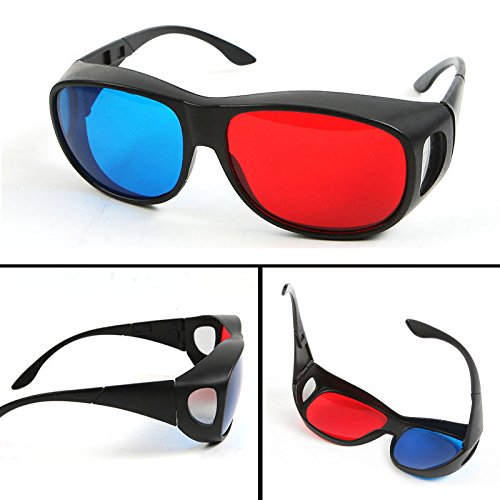 ANGELS--Red Blue/Cyan 3D GLASSES Plastic Dimensional Anaglyph Frame for 3D movie game