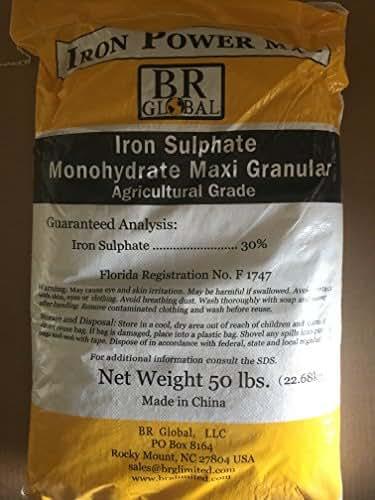 Ferrous Sulfate Monohydrate 99% Min. Purity 30% Iron 3lb bag