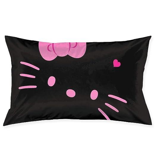 CHLING Fundas de Almohada Hello Kitty Color Negro, Fundas de ...
