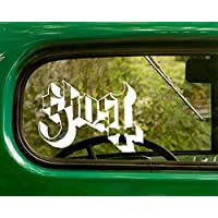 2 GHOST Decal Rock Band Stickers White Die Cut For Window Car Jeep 4x4 Truck Laptop Bumper Rv
