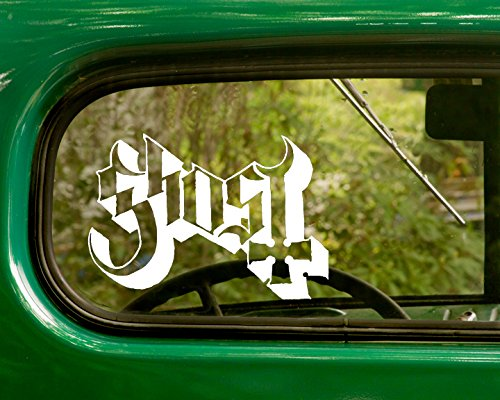 Bc Sticker - 2 GHOST Decal Rock Band Stickers White Die Cut For Window Car Jeep 4x4 Truck Laptop Bumper Rv