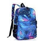 Galaxy Backpack / Back-to-School / New Hot Sale Unisex Canvas School Bag Travel Bag Shoulders Bag / Galaxy Blue