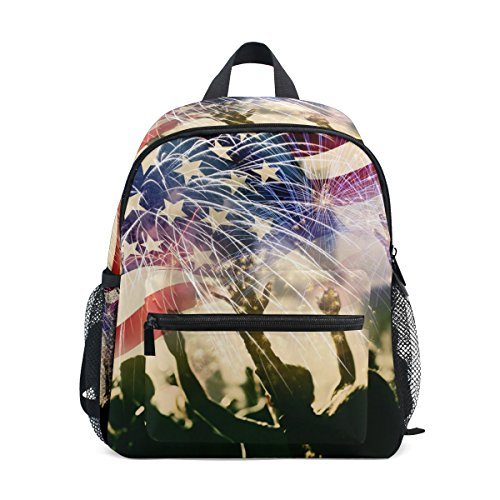 Top Carpenter Primary School Backpack Bookbag US Flag Indepe