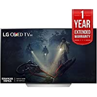 LG OLED65C7P - 65 C7 OLED 4K HDR Smart TV (2017 Model) + Extended 1 Year Warranty Bundle