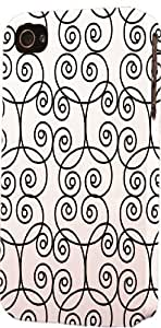 Black & White Swirl Pattern Dimensional Case Fits Apple iPhone 5 or iPhone 5s