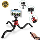 Phone Tripod, iPhone Camera tripod, Sellemer Flexible Tripod with Stand Holder & Bluetooth Remote for iPhone 7 8 x 6 Plus Samsung Galaxy S8 S7 S6 Plus and DSLR Camera