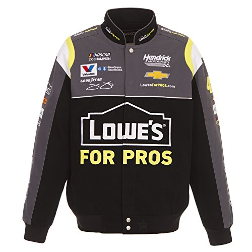 J.H. Design 2018 Jimmie Johnson Lowe's NASCAR Jacket Size (Jimmie Johnson Nascar Jackets)