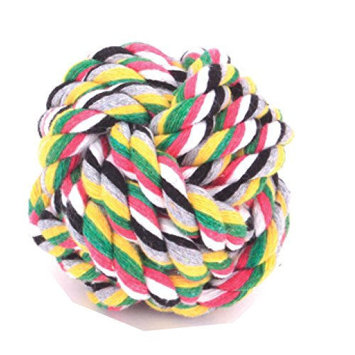 MIWIND– Puppy Dog Pet Cotton Rope Chew Teeth Cleanning Toys For Medium to Large Dogs -The Biggest ball