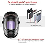 Tekware Ultra Large Viewing Screen True Color Solar Power Auto Darkening Welding Helmet, Hemispherical 4C lense, 4 Arc Sensor Wide Shade 4~5/9-9/13 for TIG MIG Arc Weld Grinding Welder Mask