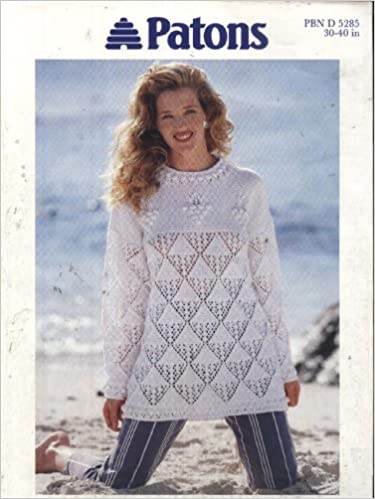f4bc716aa Patons Knitting Pattern 5285   Ladies Aran Lace and Bobble Tunic Sweater  (30-40in) (Patons Aran) Pamphlet – 1995