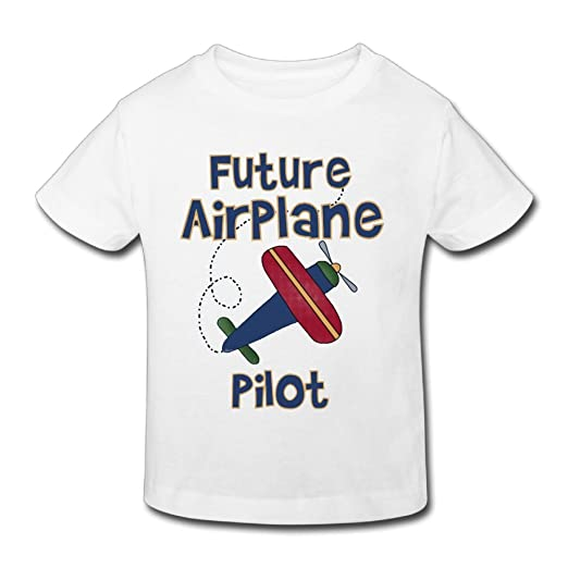 39fb1b8ce Hanxiaoxiao Kid Future Airplane Pilot Classic Party White T-Shirt 2 Toddler  Short Sleeve