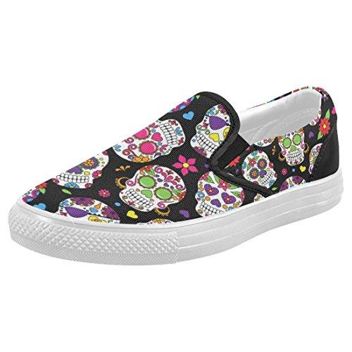 Interestprint Mujeres High Top Classic Casual Canvas Zapatillas De Moda Zapatillas De Deporte Sneakers