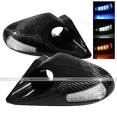 06 07 08 09 Honda Civic Si 2DR Coupe Z4 Style LED Signal Carbon Fiber Power Side Mirrors - Honda Civic 2dr Carbon