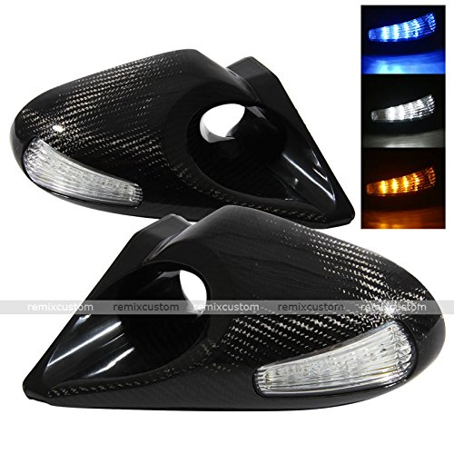 Z4 Style LED Signal Carbon Fiber Power Side Mirrors fits 99-04 BMW E46 4DR Sedan