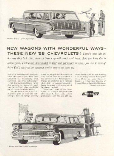 Chevrolet Nomad Brookwood station wagons Wonderful Ways ad 1958