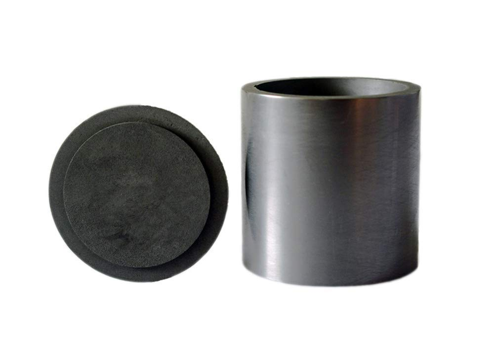 OTOOLWORLD Smelting Lab Graphite Crucible with Cover Lab Supply 50MM X 50MM