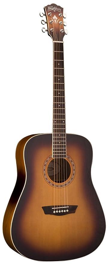 Amazon Com Washburn Wd7s Harvest Series Grand Auditorium Acoustic