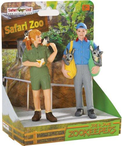 (Safari Ltd. Safari Land Joe and Jane Zookeepers - On platform)
