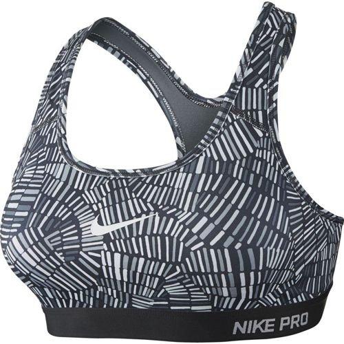 Nike Women's Spring Pro Classic Padded Tidal Bra,Cool Grey/White,XL