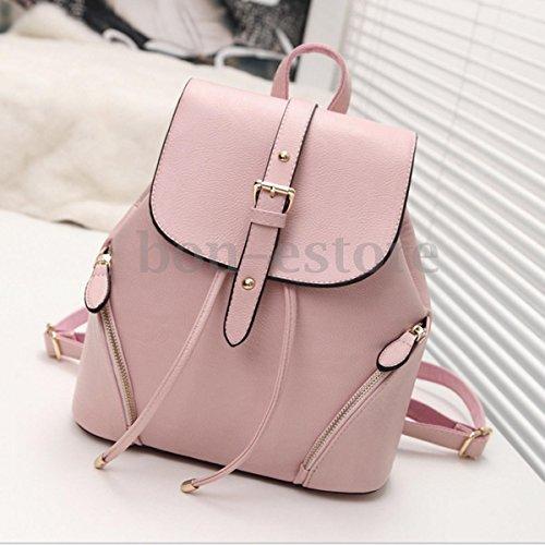 XENO-Women Shoulder Bag Backpack Leather Travel School Bag Satchel Bookbag