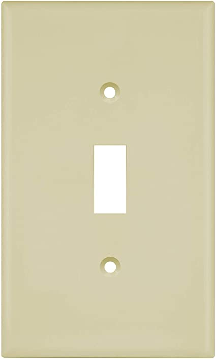Enerlites Toggle Light Switch Wall Plate Midway Size 1 Gang 4 88 X 3 11 Unbreakable Polycarbonate Thermoplastic Ul Listed 8811m I Ivory
