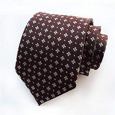 Zjuki corbata Flor Floral para Hombre Corbata de Seda Corbatas ...