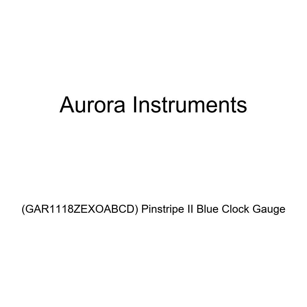 Aurora Instruments GAR1118ZEXOABCD Pinstripe II Blue Clock Gauge