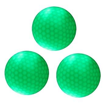 Sharplace 3 Pcs de Pelota Bola de Golf Noche con LED Verde ...